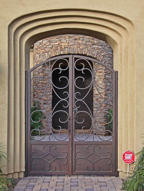 Custom Iron Gates by First Impression Security Doors contemporary-exterior : first impression doors - pezcame.com