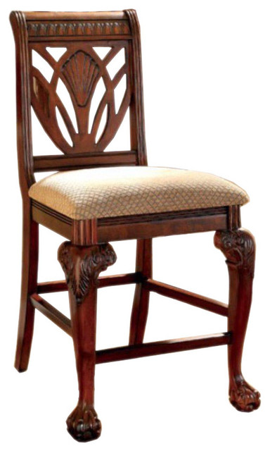 Petersburg Ii Bm131193 Traditional Counter Height Chairs, Cherry, Set Of 2.