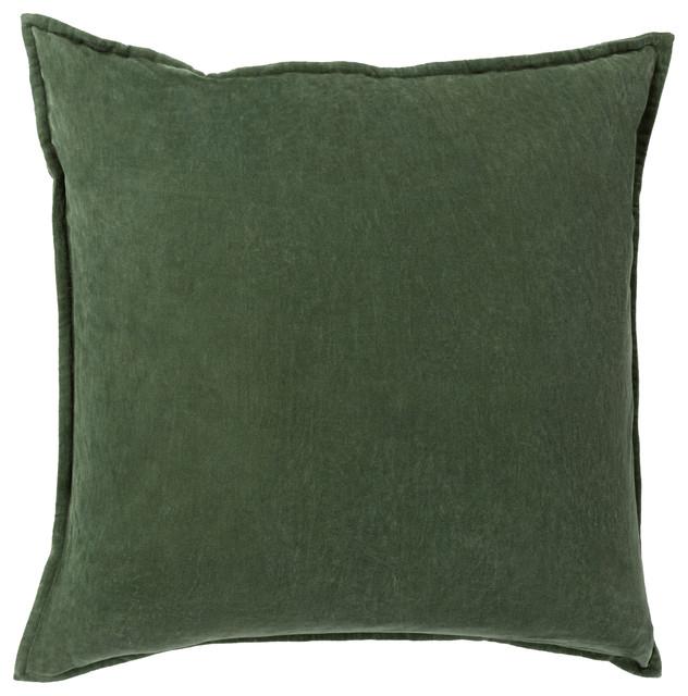 Cotton Velvet Pillow 20x20x5, Polyester Fill