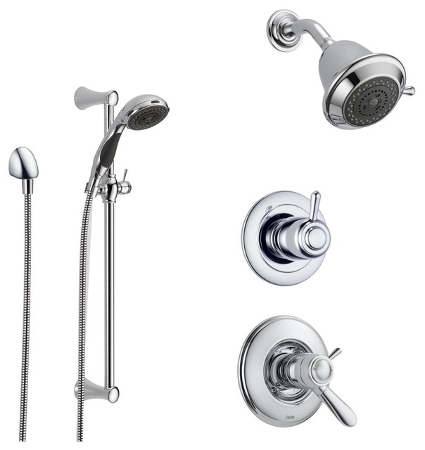 Delta Lahara Collection Chrome Finish Custom Shower System SS17T3882