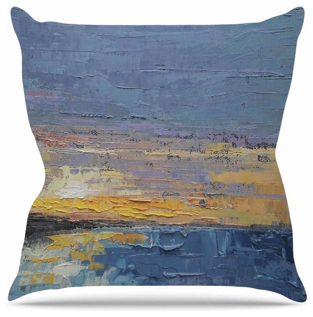 Yellow Beach Throw Pillows : KESS InHouse - Carol Schiff