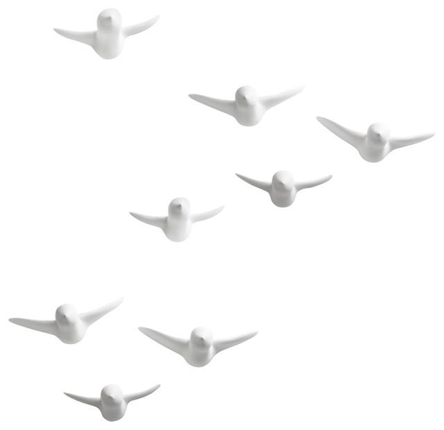 Flock Wall Hooks, Set of 8