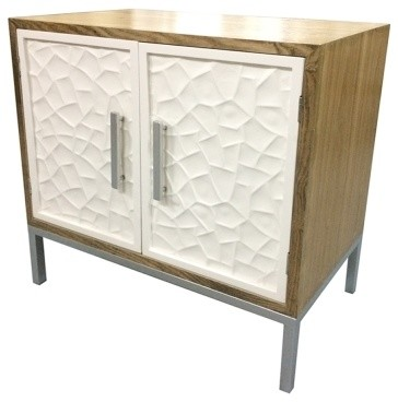 Montez Flagstone Pattern 2-Door Buffet, Natural and White - Contemporary - Buffets And ...