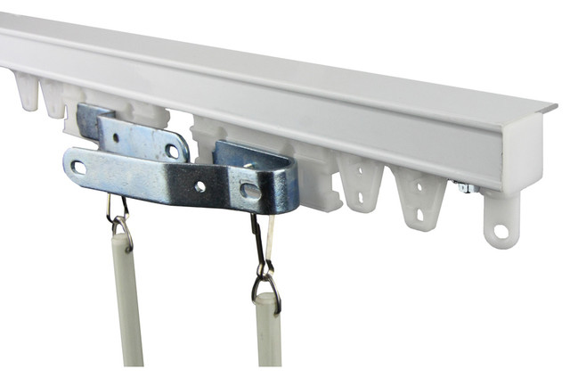 Rod Desyne Commercial Ceiling Curtain Track Kit 10ft (compose Of Two 5ft Track).
