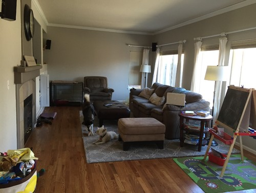 need space planning help for family room need to make decision quick