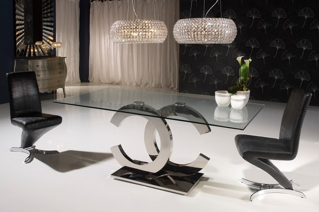Iconic Contemporary Chrome Dining Table