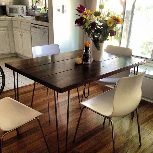 4ft hairpin leg dining table view in your room houzz for Dining room tables los angeles