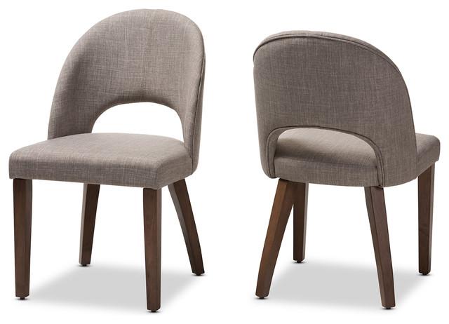 Brown Walnut Grey Baxton Studio Sacramento Mid Century Wood Faux Leather Dining Chairs Mimbarschool Com Ng