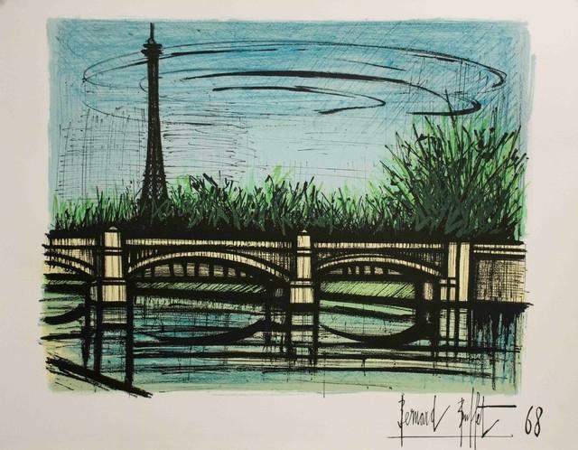 Groovy Bridge By Bernard Buffet Signed Lithograph Poster Home Interior And Landscaping Spoatsignezvosmurscom