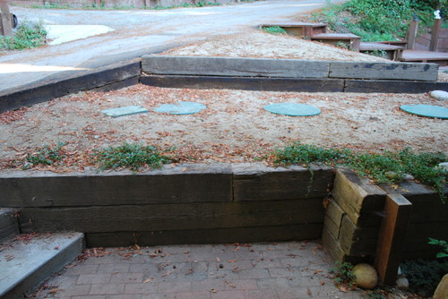 . Landscaping around camouflaging septic lids