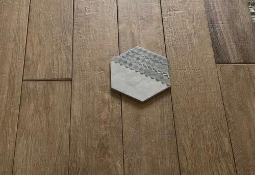 Accostamento mosaico con piastrelle esagonali - Piastrelle a mosaico ...