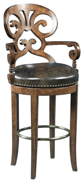 Hooker Furniture Jameson Leather Stool Traditional Bar