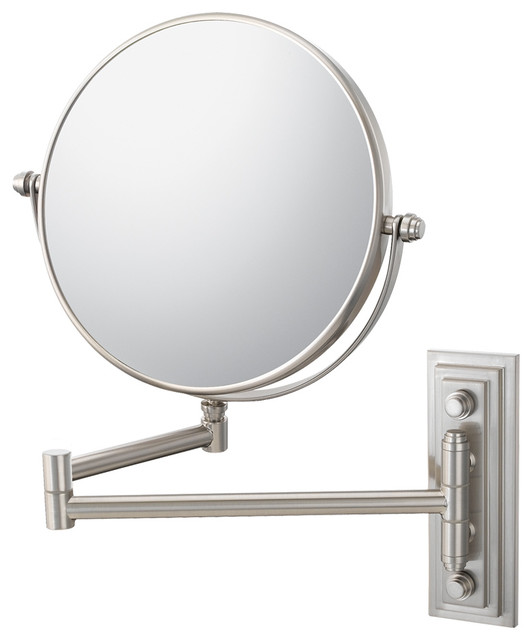 Aptations - Classic Double Arm Wall Mirror With 5x and 1x Magnification, Chrome & Reviews | Houzz