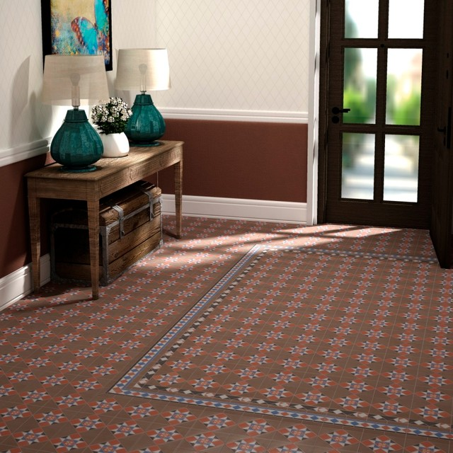 Cambridge Patterned Floor Tiles 18 99 Per Sq M Traditional Hallway And