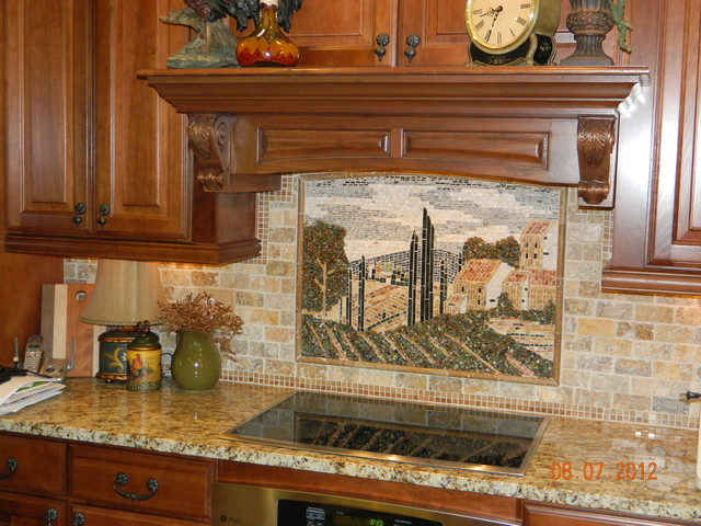 Tuscany Country Tile Mural - Traditional - Cincinnati - by Losas ...