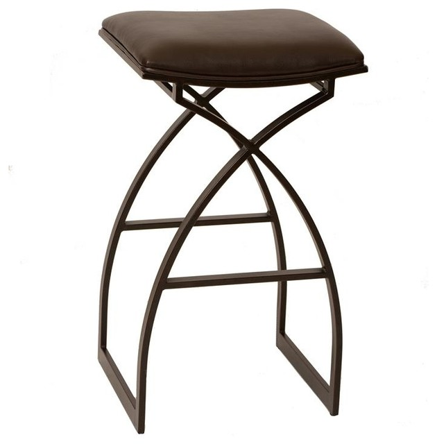 "Modern Furniture East Bay harper 26"" modern barstool, coffee and auburn bay metal"