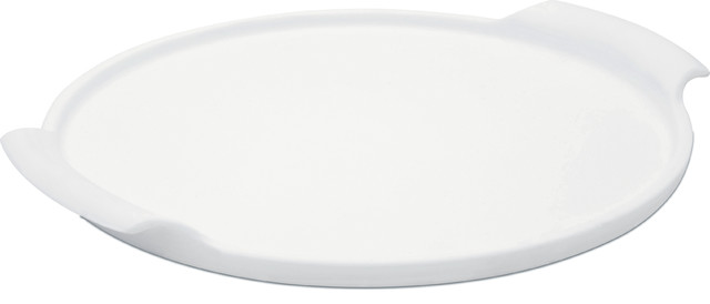 "Oxford Porcelain Pizza Stone With Handle, 12""."