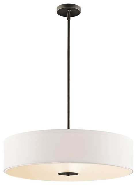 Pendant/semi Flush 3-Light, Olde Bronze.