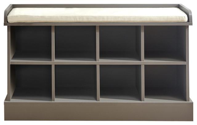 Kempton Shoe Bench, Grey