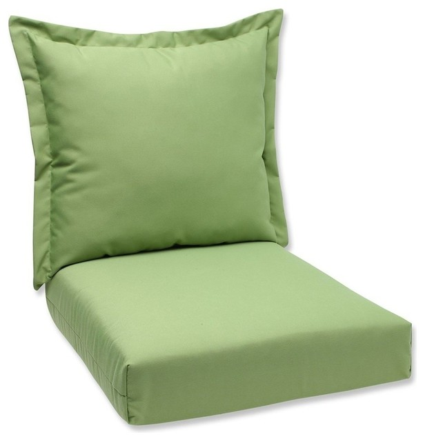 Deep Seating Cushion and Back Pillow with Peacock