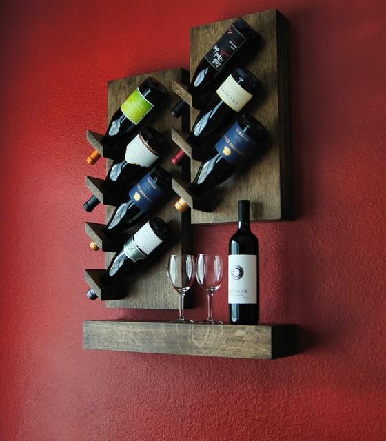 Custom Floating Wine Rack Contemporary Racks
