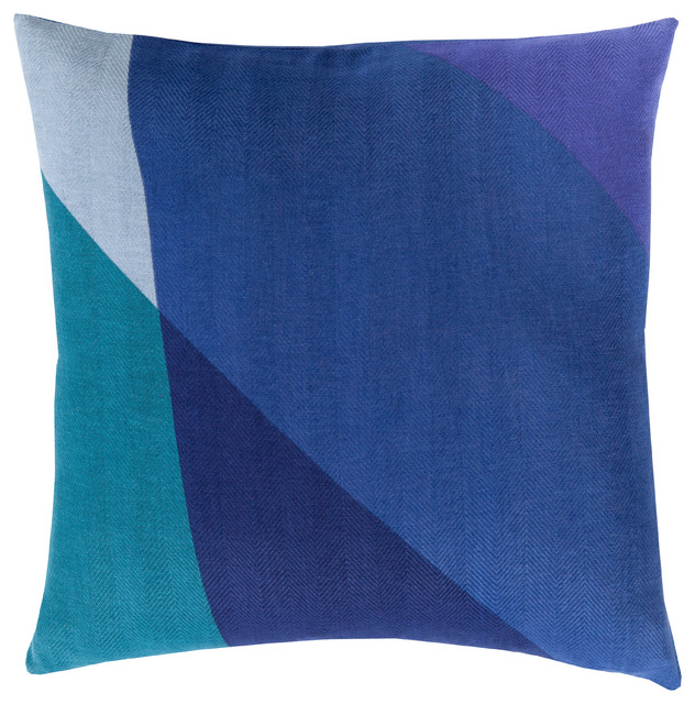 Surya Teori 20x20x0.25 Navy Pillow Cover.