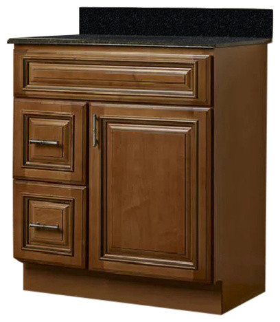 "30 Maple Bathroom Vanity jsi kingston 30"" maple brown bathroom vanity cabinet base #vk"