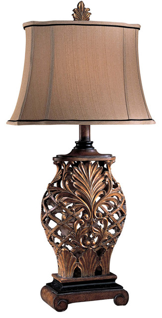 Signature 1-Light Table Lamps, Weathered Lattice.