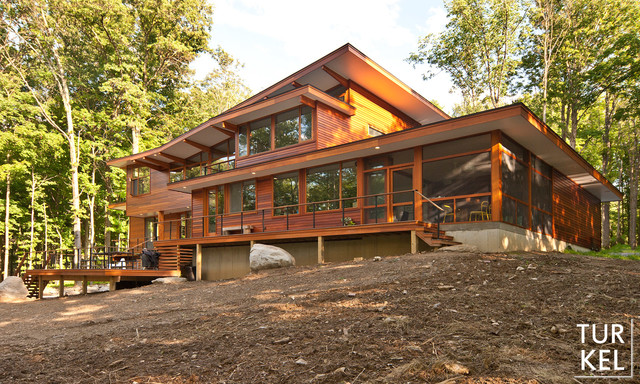 Wallkill River House With Lindal Cedar Homes Modern