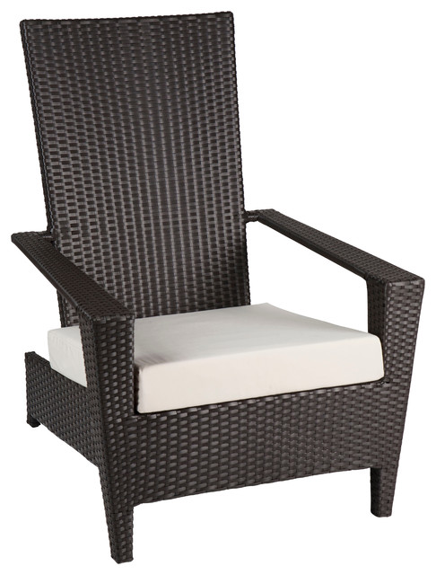Martano Modern Outdoor All Weather Wicker Stackable Chair
