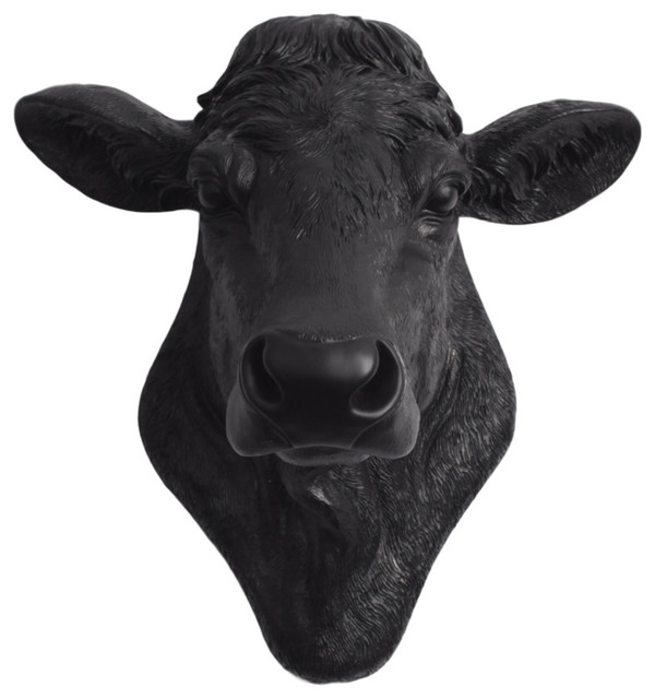 Faux Resin Cow Head Wall Mount Contemporary Wall