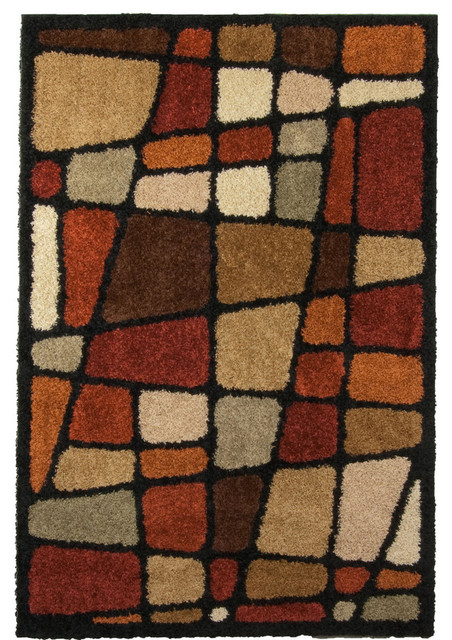 Orian rugs orian rugs shag geometric hopscotch multi rug for Geometric print area rugs