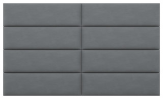 """VANT Upholstered Headboards, Accent Wall Panels Suede Gray, 78""""x46"""", King/Cal"""
