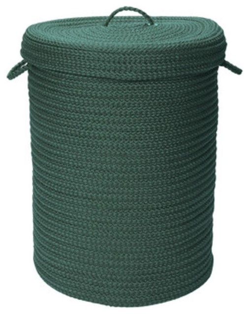 """Simply Home Solid, Myrtle Green, 16""""x16""""x24"""", Hamper With Lid."""