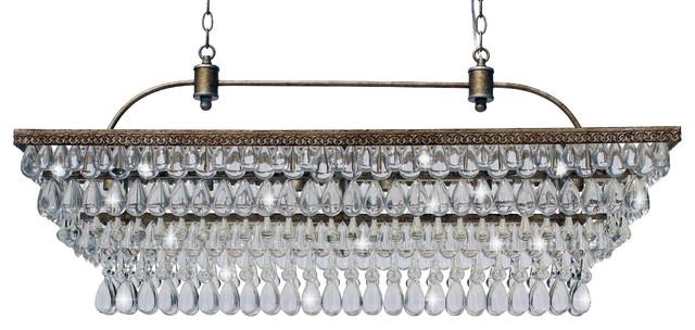 Weston 40 rectangular glass drop chandelier traditional weston 40 rectangular glass drop chandelier aloadofball Images