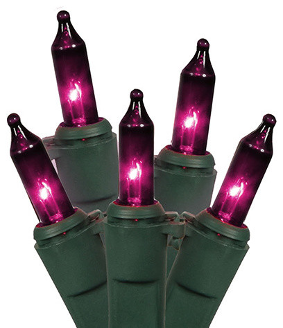 Heavy Duty Mini Christmas Lights, Set Of 150, Purple.