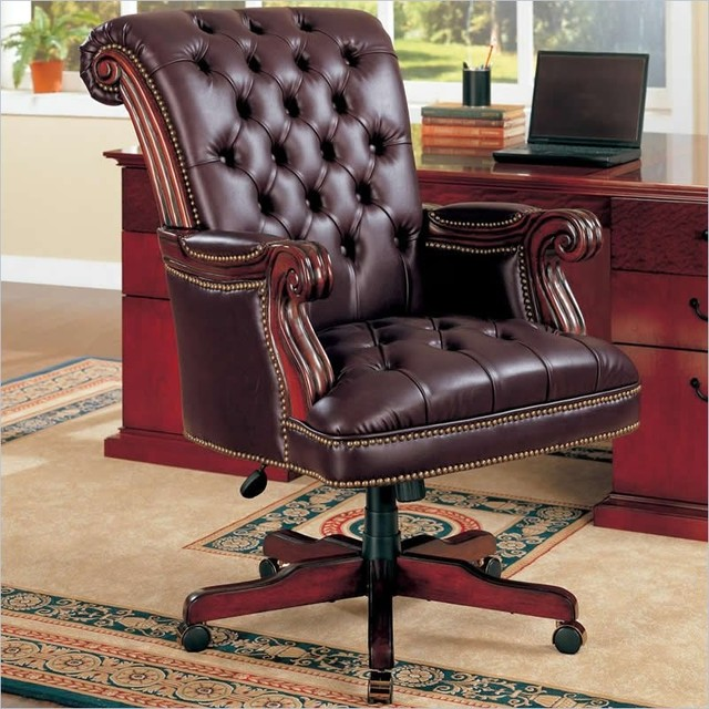 Coaster Office Chair In Dark Brown Finish 800142