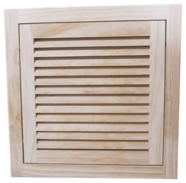 "Wood Return Air Filter Grille, 14""x14"", Half Round."