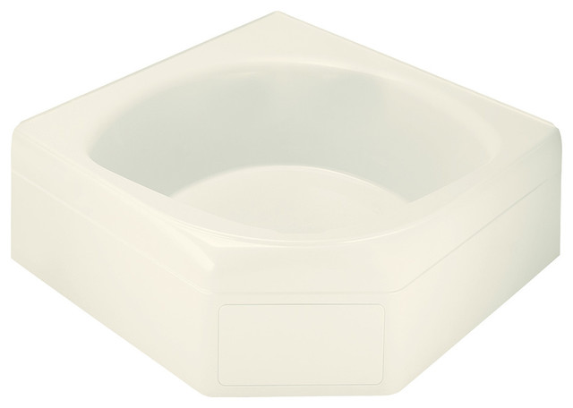 "Sterling  Ensemble 20.5""x60""x60"" Vikrell Corner Bathtub, Biscuit."