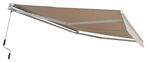 Xtremepowerus 10&x27; X 8&x27; Patio Manual Retractable Sun Shade Awning Tan.