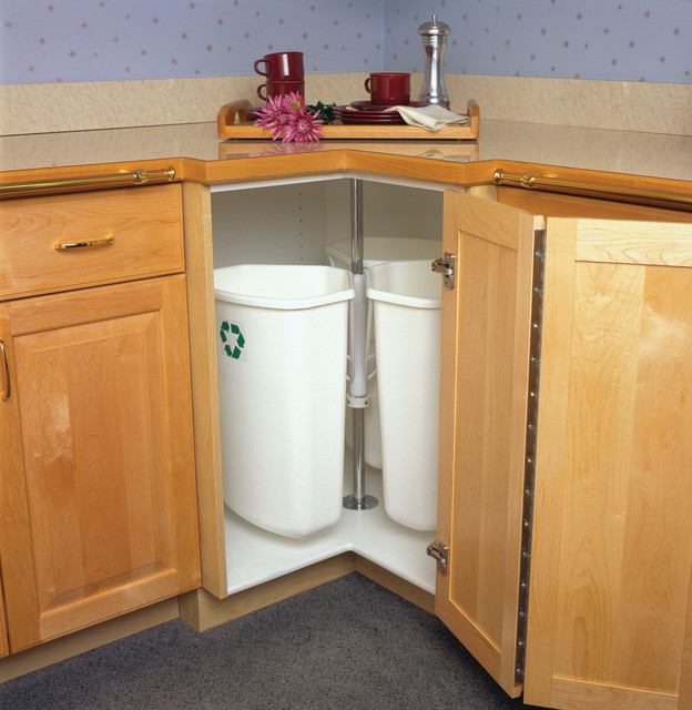 Hafele Recycling And Waste Corner Rotate Bins Kitchen