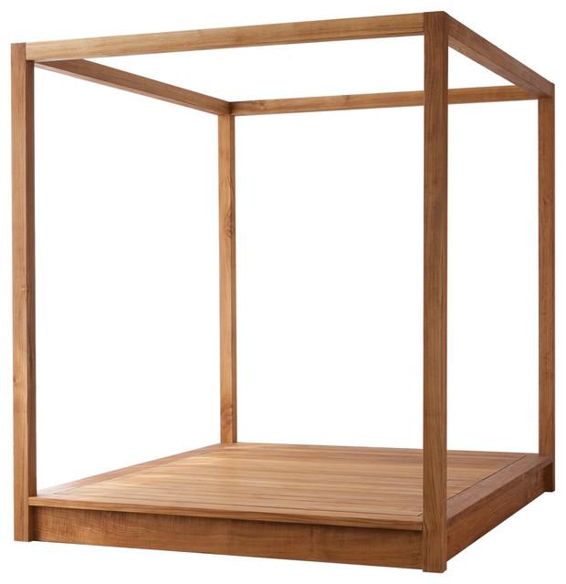 Superbe Mash PCH Modern Wood Platform Canopy Bed, Queen