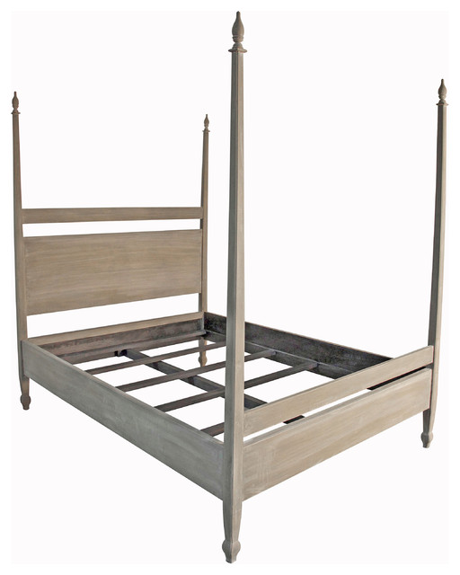 sandro weathered wood coastal beach queen 4 poster bed beach style beds