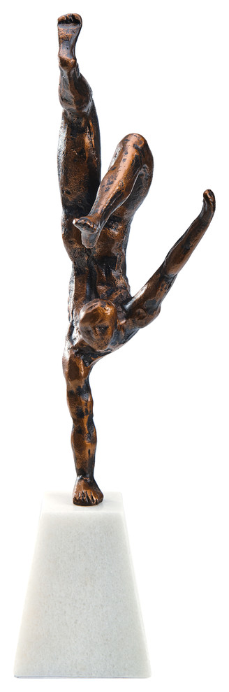 Finesse Decor The Aly Sculpture Iron Marble Black