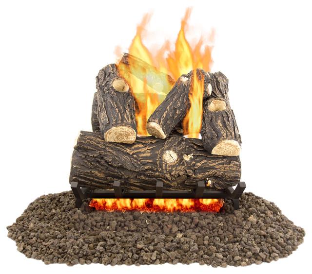 "Pleasant Hearth Willow Oak Vented Gas Log Set 45,000 Btu&x27;s, 18"""