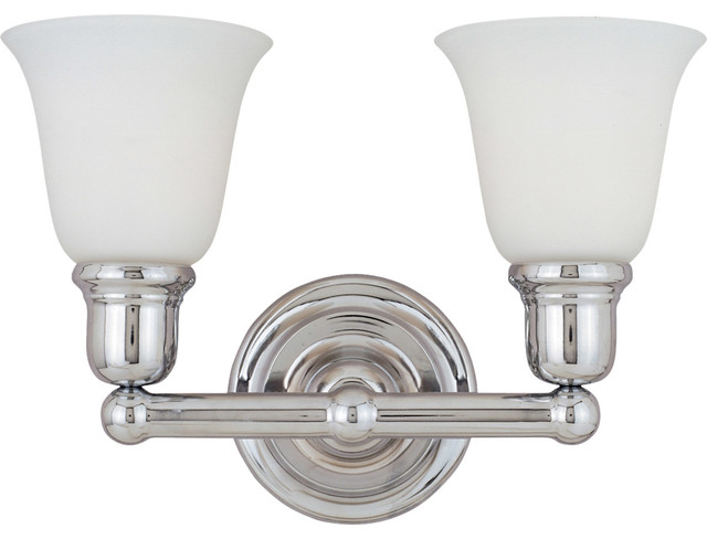 Hampton Bay 2 Light Chrome Bath Light 05659: Bathroom Vanity 2-Light With Polished Chrome, Iron, Medium