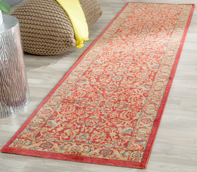 Safavieh Toulouse Woven Rug, Red And Natural, 2&x27;2x8&x27;.