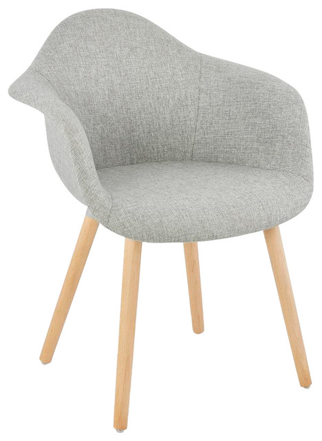 Loko Fabric Dining Chair, Grey