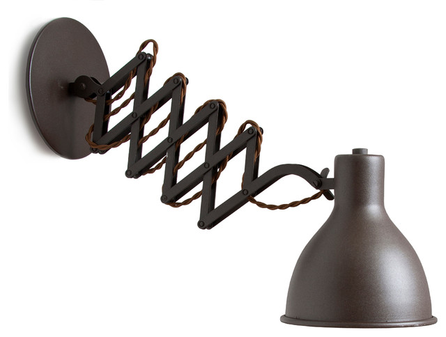 LuxCambra Oxford Wall Lamp, Oxide industrial-swing-arm-wall-lamps