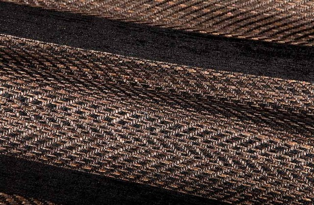 Hickory Striped Upholstery Fabric in Espresso